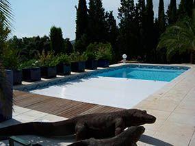Piscine coque avec volet immergé -  - piscine coque polyester