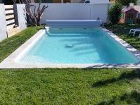 Piscine rectangle avec volet hors sol -  - piscine coque polyester
