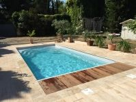 Piscine rectangle et volet roulant - Photo piscine à coque
