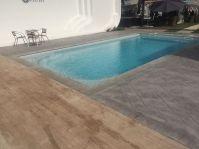 Piscine avec angle droit -  - piscine coque polyester