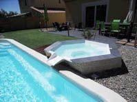 spa à débordement hors sol -  - piscine coque polyester