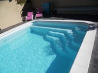 Piscine rectangle 8 par 4 -  - piscine coque polyester