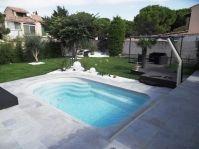 petite piscine coque grise - Photo piscine à coque
