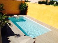 Petite piscine polyester de 5m -  - piscine coque polyester