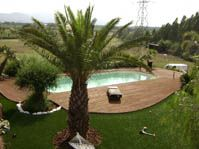 Piscine durance, environnement naturel -  - piscine coque polyester