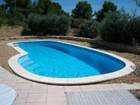 Piscine coque à forme ovale  -  - piscine coque polyester