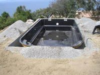 Gelcoat de la piscine noir -  - piscine coque polyester