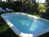 Piscine polyester beige -  - piscine coque polyester