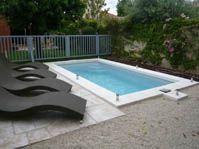 Piscine polyester, petit bassin -  - piscine coque polyester