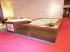 Spa à débordement -  - piscine coque polyester